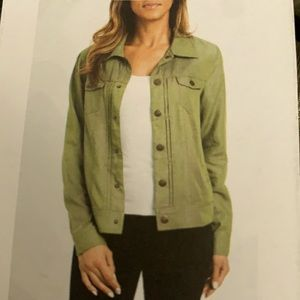 Tahari olive green Jacket size Small New with tag